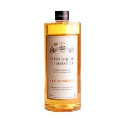 Savon liquide de Marseille 1L MIEL DE PROVENCE- à l'Huile d'olive Bio