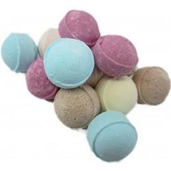 20 Mini boules de bain Effervescentes - Assortiments de senteurs et couleurs