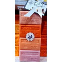 Coffret de 4 savons 125gr BEURRE DE KARITÉ LAVANDE en boite carton