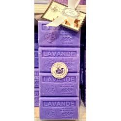 Coffret de 4 savons 125gr BEURRE DE KARITÉ en boite carton