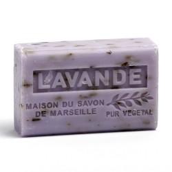 Savon 125gr au beurre de karité bio- LAVANDE BROYEE lot: Ma 19493