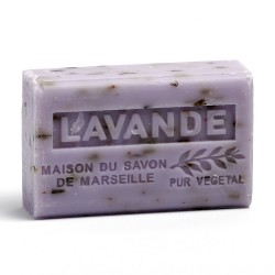 Savon 125gr au beurre de karité bio- LAVANDE BROYEE