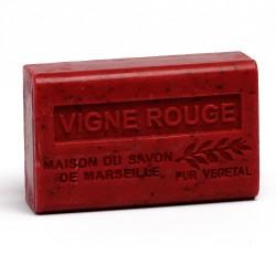 Savon 125gr au beurre de karité bio- VIGNE ROUGE lot: Ma19405
