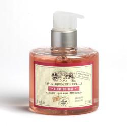 Savon liquide de Marseille 330ml FLEUR DE ROSE - Huile d'olive Bio
