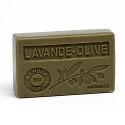 Savon 100gr huile d'argan bio - LAVANDE OLIVE