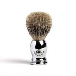 Blaireau poils de blaireau manche métal homme
